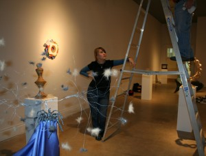 Hanging a show in the Sella-Granata Gallery