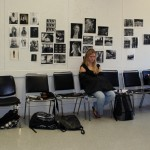 Getting ready for critique in photo class.