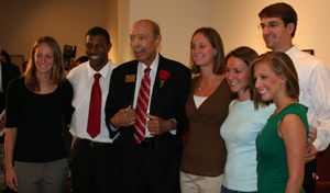 The late Paul R. Jones with Arts and Sciences Ambassadors in 2009.