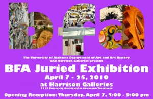 BFA Juried Exhibition 2010 poster