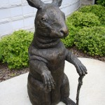 "Frank D. Fleming, ""Peter the Rabbit,"" 2009, cast bronze."