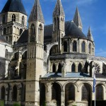 The Church of St. Etienne in Caen, France