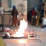 Aluminum pour in the foundry with Mike Eddins and Patrick O'Sull