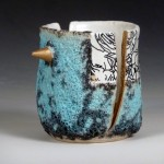 "Sydney Ewerth, ""Mind The Gap,"" 2015. This ceramics piece was juried into the 1st Annual Dirty South Mug Competition."