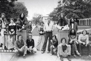 Fall 1976 Art Grad Students on Woods Quad. Photo by Larry Newberry
