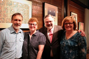 Bill and Sara Hall with Robert and Lynn Olin in the UA Gallery. Photo courtesy UA College of Arts and Sciences.