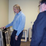 SMGA Director Bill Dooley gives Dean Olin a tour of the new space.