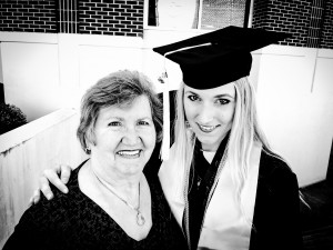 Ali Hval and her grandmother, Alma Lokken, at Ali's graduation in May 2015.