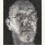 Chuck Close, Self-Portrait, Woodcut, 2007, 47 color hand printed woodcut created in the Ukiyo-e tradition with 39 blocks on Shiramine paper, 37 x 30 inches, Edition of 60