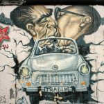 "Photo by Jim Harrison III of artwork and graffiti on the Berlin Wall, 2006 (""Berlin Wall Series"")."