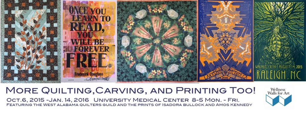 More Quilting, Carving, and Printing Too! exhibition for Wellness Walls For Art , 2015-2016