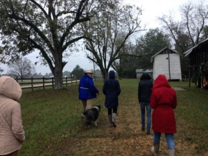 Dr. Rachel Stephens' ARH 477 class at The Moore/Webb/Holmes Plantation and out buildings (circa 1819), Folsom, Perry County, Alabama. The students toured several structures around Hale, Perry and Marengo counties in the Black Belt as part of their studies.