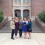Dr. Tanja Jones (left) with UA art history grad students at the FSU art history symposium