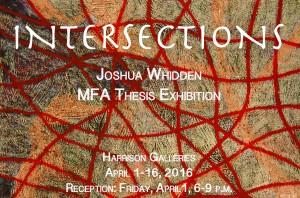 Joshua Whidden MFA show card