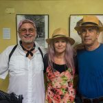 UA Honors College instructor Chip Cooper, Karen Graffeo and Cuban photographer and gallery owner Julio Larramendi
