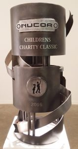 Sculpture by Brandt Deeds and Nick Jackson for Nucor Charity Auction 2016.
