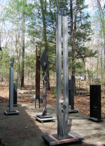 "Sculptures by Professor Angelo ""Jack"" Granata, at his studio near Cottondale, Ala., outside his studio, taken during the memorial reception for him, Sunday, March 22, 2009."