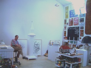 William Christenberry in his DC studio in July 2009.