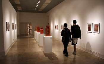Visitors in the Sella-Granata Art Gallery