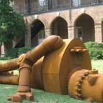 """Joe McCreary, """"Goldie 1971,"""" Woods Quad, collection of The University of Alabama College of Arts and Sciences."""