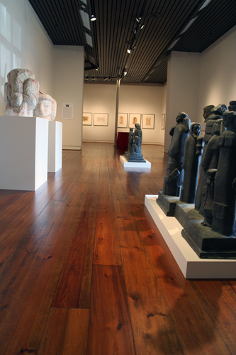 interior of art gallery