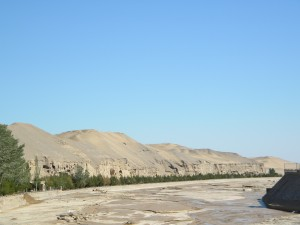 Art history grad student Meng Tong visited the Mogao Grottoes at the Dunhuang Caves for her thesis research.