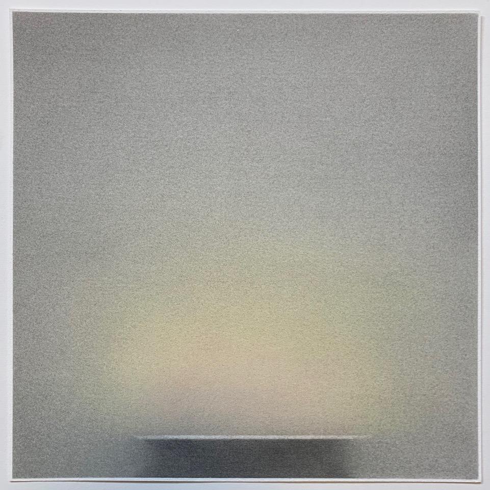 "Pete Schulte, ""Flame IV (Desert Version),"" 2019. Graphite, pigment, on paper."
