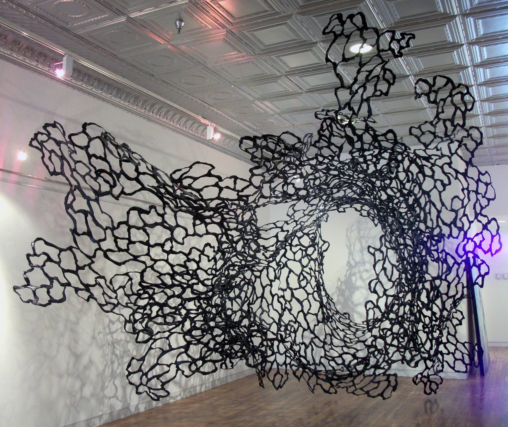 "Jamey Grimes, ""Roil,"" Harrison Galleries installation, 2013"