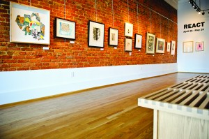 View of the Paul R. Jones Gallery in downtown Tuscaloosa.
