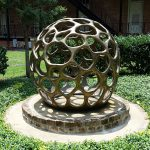 """Montgomery Marker"" by Craig Wedderspoon, in the Woods Quad Sculpture Garden, UA campus"
