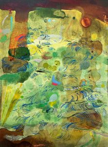 """Bryce Speed's oil and acrylic painting, """"The Garden"""""""
