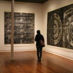 Mel Kendrick's Woodblock exhibition, SMGA