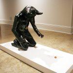 """Virginia Eckinger, """"Eleanor's Struggle,"""" ceramic, 2012"""