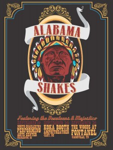 Alabama Shakes poster, designed by Devin Huey, UA digital media