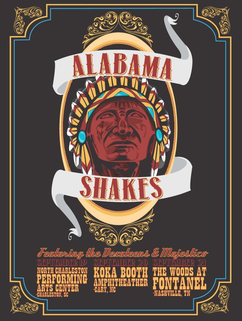 Alabama Shakes poster, designed by Devin Huey, UA digital media