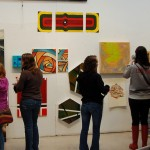 Critique day in Professor Sky Shineman's painting class.