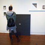 Visitors at the UA Faculty Biennial, Sarah Moody Gallery of Art