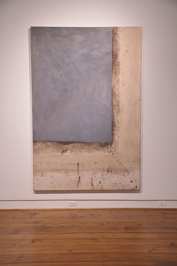 """William Willis, """"Sheffield,"""" 1975, acrylic and mixed media on canvas, 90 x 60 inches."""