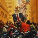 """Tom Wegrzynowski, """"Triumph of the Masters,"""" 2013, oil on canvas, 40 x 30"""