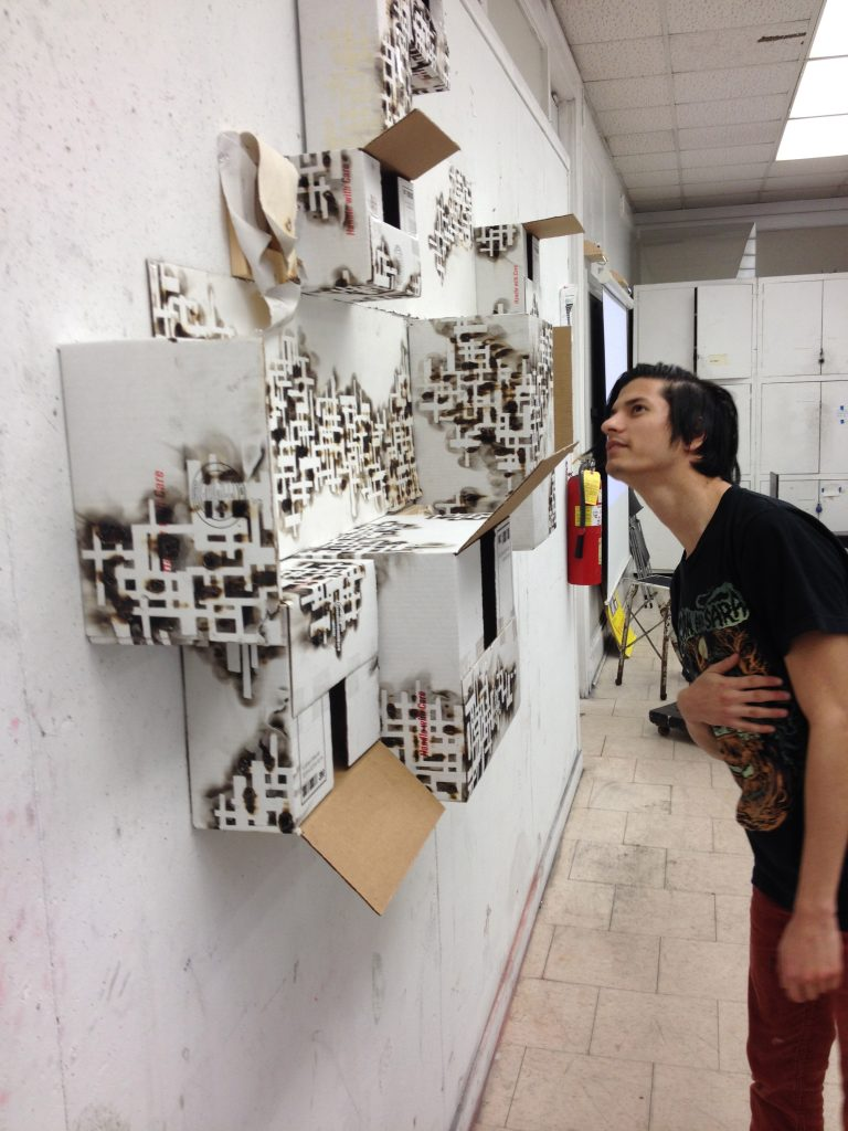 Student installation; Faculty: Pete Schulte; area: drawing