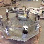 Bryce sculpture pieces repair and renovation: cast iron fountain