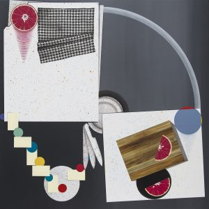 Jay Davis, Minimal Picnicking, 2014, Acrylic on Panel, 60 X 60 in