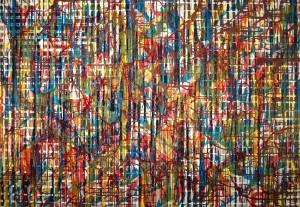 "Joshua Whidden, ""elemental,"" oil on canvas."