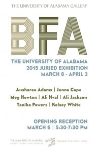 BFA 2015 Juried Exhibition POSTER