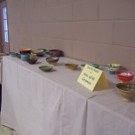 Just a few bowls left halfway through a successful lunch fundraiser at this year's Empty Bowls.
