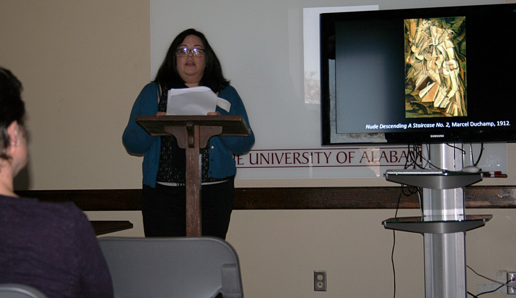"""Amy Williamson of UAB presenting """"'The Ladies' Who Founded MoMA: How Three Female Art Collectors Created One of World's Leading Museums"""""""