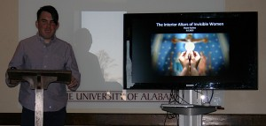 Shane Harless, of Tulane, presenting at the 20th Annual Graduate Student Symposium in Art History, Friday, March 6, 2015, UA.