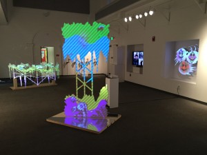 Installation view of work by Derek G. Larson for [monitor]