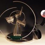 Alli Sloan's steel sculpture for 9th annual Nucor Children's Charity Classic auction.