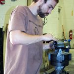Eric Nubbe working on his sculpture for Nucor Children's of Alabama charity auction.